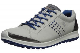 (39 Medium EU (5-5.5 US), Concrete/Royal) - ECCO Men's Biom Hybrid 2 Hydromax Golf Shoe