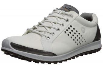 (39 Medium EU (5-5.5 US), White/Black) - ECCO Men's Biom Hybrid 2 Hydromax Golf Shoe