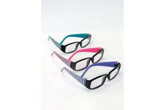 Three Pairs of Striped Glasses | Fits 46cm American Girl Dolls, Madame Alexander, Our Generation, etc. | 46cm Doll Accessories