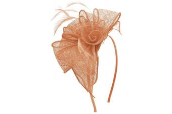 (Nude) - Aurora Collection Rosette and Loops Fascinator