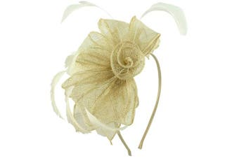 (Ivory) - Aurora Collection Rosette and Loops Fascinator