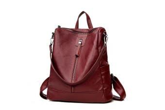 (Burgundy) - Women's Backpack Handbags Shoulder Bags School Backpack Daypack Laptop Bag PU Leather