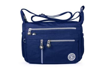 (4-blue) - ABLE Women Anti Splash Water Shoulder Messenger Crossbody Bags
