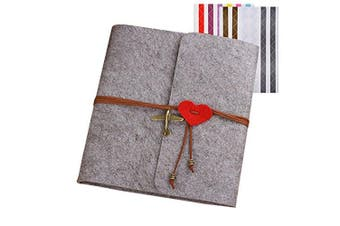 (Gray) - Forusky 60 Pages 23.6 x 24.7 cm DIY Scrapbook Wedding Anniversary Album,Lover Recording Album,Baby Growing Album,Travelling Record Book for Instant Mini ,Wide Camera Film,Gifts - Grey