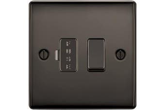 (Switched Fused Connection Unit, Black Nickel) - BG Electrical Switched Fused Connexion Unit, Black Nickel, 13 Amp
