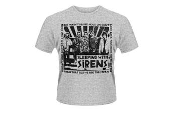 (Small, Grey) - Plastic Head Men's Sleeping With Sirens Clipping Short Sleeve T-Shirt