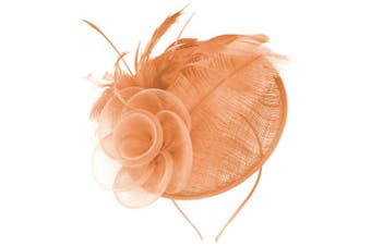 (Peach) - Aurora Collection Rose and Feather Disc
