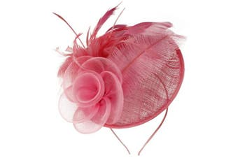 (Pink) - Aurora Collection Rose and Feather Disc