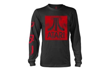 (Small, Schwarz) - ATARI BOX LOGO BLACK LS