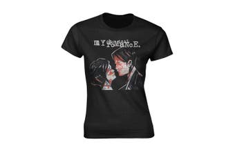(Skinny Fit Large (UK 12 - 14)) - My Chemical Romance Women39;s Three Cheers T-Shirt Black