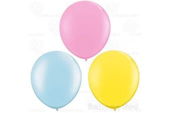 (90cm  Pack of 12, Baby Blue + Baby Pink + Yellow) - 90cm (0.9m) Giant Jumbo Latex Balloons (Premium Helium Quality), Pack of 12, Regular Shape - Baby Blue + Baby Pink + Yellow, for Photo Shoot/Birthday/Wedding Party/Festival/Event/Carnival