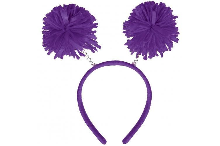(Purple) - Amscan Pom Pom Headbopper, Party Accessory, Purple