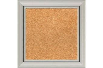 (46cm  x 46cm ) - Framed Cork Board, Choose Your Custom Size, Romano Silver Wood