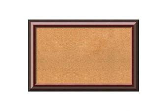 (34 x 22) - Framed Cork Board, Choose Your Custom Size, Cambridge Mahogany Wood