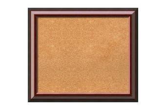 (28 x 24) - Framed Cork Board, Choose Your Custom Size, Cambridge Mahogany Wood