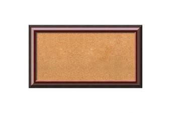 (36 x 20) - Framed Cork Board, Choose Your Custom Size, Cambridge Mahogany Wood