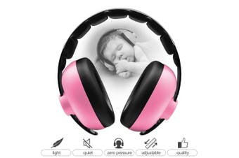(Pink) - BBTKCARE Baby Headphones Noise Cancelling Headphones for Babies for 3 Months to 2 Years (Pink)