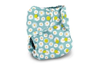 (Bloom) - Buttons Cloth Nappy Cover - One Size (Bloom)