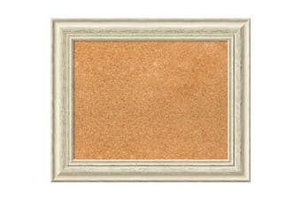 (23 x 19) - Framed Cork Board, Choose Your Custom Size, Country White Wash Wood
