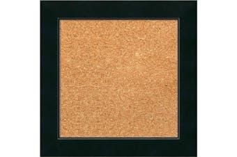 (15 x 15) - Framed Cork Board, Choose Your Custom Size, Corvino Black Wood