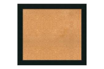 (37 x 33) - Framed Cork Board, Choose Your Custom Size, Corvino Black Wood