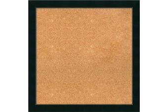 (27 x 27) - Framed Cork Board, Choose Your Custom Size, Corvino Black Wood