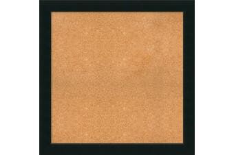 (37 x 37) - Framed Cork Board, Choose Your Custom Size, Corvino Black Wood