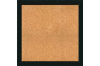 (39 x 39) - Framed Cork Board, Choose Your Custom Size, Corvino Black Wood