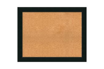 (39 x 31) - Framed Cork Board, Choose Your Custom Size, Corvino Black Wood