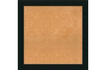 (33 x 33) - Framed Cork Board, Choose Your Custom Size, Corvino Black Wood
