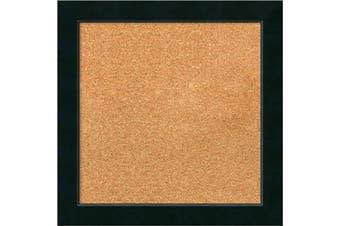 (19 x 19) - Framed Cork Board, Choose Your Custom Size, Corvino Black Wood