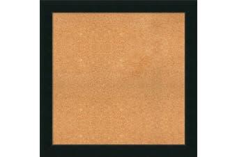 (35 x 35) - Framed Cork Board, Choose Your Custom Size, Corvino Black Wood