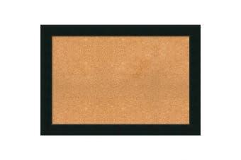 (39 x 27) - Framed Cork Board, Choose Your Custom Size, Corvino Black Wood
