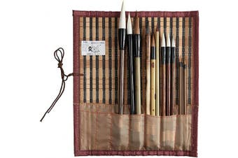 (MBTJL12) - 2500 Painting and Calligraphy Art Professional Chinese Art Brush Set 12 Pcs Chinese Paint Brush Kit