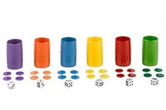 Falomir- Acc Patches Complete Set of 6 Plastic Cubins Table Set (Accessories), Multicolor (27934)