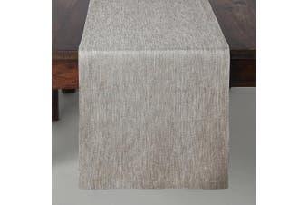 (36cm  x 120cm , Flax) - Solino Home Medium Weight Linen Table Runner - 100% Pure Linen - 36cm x 120cm , Flax