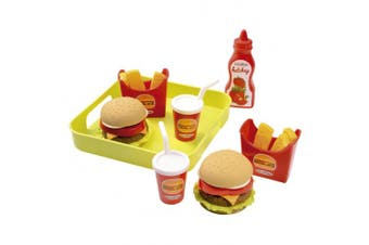 Ecoiffier 957 - Hamburger Set with tray by Ecoiffier