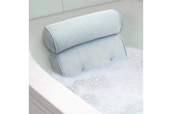 (White) - Essort Bath Pillow Spa Bathtub Pillow with 4 Suction Cups, Head, Neck, Back and Shoulder Support Bath Pillows for Hot Tub, Jacuzzi, Home Spa (38 X 36 X 8.5 cm) White