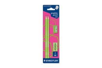 (Green) - STAEDTLER Wopex Neon Graphite Pencil Kit - Green