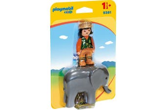 Playmobil 9381 1.2.3 Zookeeper with Elephant