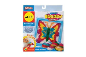 (Butterfly) - ALEX Toys Craft Simply Needlepoint Butterfly Kit
