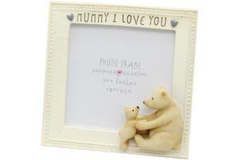 (Mummy I Love You) - Carousel Square 10cm x 10cm Mum Bear Photo Picture Frame - Mummy I Love You