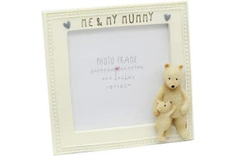 (Me and My Mummy) - Carousel Square 10cm x 10cm Mum Bear Photo Picture Frame - Me and My Mummy