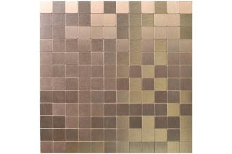 (A16001) - Art3d Peel and Stick Tiles Modern Aluminium Mosaic, Old Kettle (5 Tiles)