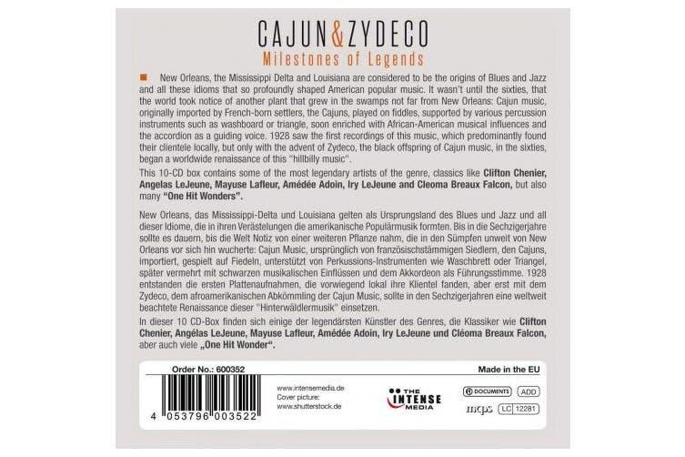 Cajun & Zydeco: Milestones Of Legends