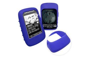 (blue) - Tuff-Luv Silicone Gel Skin Case & Screen Cover for Wahoo Elemnt Bolt - Blue