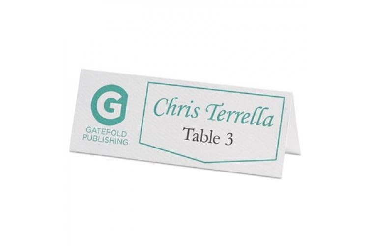 Avery Small White Tent Cards 5.1cm x 8.9cm
