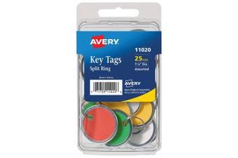 Metal Rim & Ring Key Tags 25/Pkg