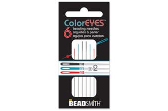 (Assorted Sizes) - ColorEyes Beading Needles Assortment 6/pkg