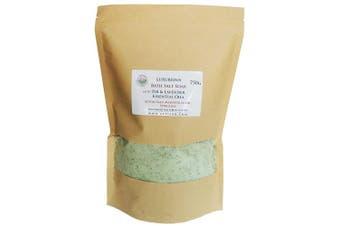 (750g) - ATTIS Luxurious Bath Salt Soak with Fir & Lavender Essential Oils, Magnesium Oil, Epsom Salt, Spirulina | Vegan | Hand made | Relaxing | Refreshing | Calming (780ml)